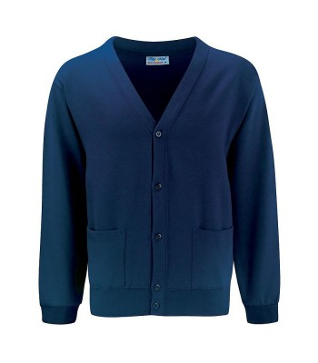 Thoresby Cardigan in Navy with your school logo