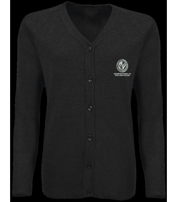 Wolfreton Cardigan with School logo Black