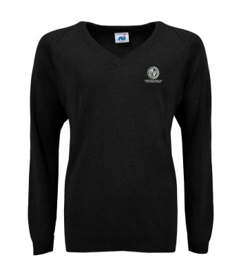 Wolfreton Jumper with School logo Black