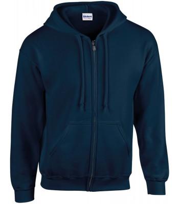 White Cross Full Zip Jacket with emb logo to LHFB, rear Orange print and orange print initials to sleeve