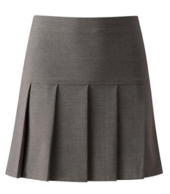 Mid Grey Pleated Skirt