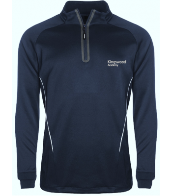 Kingswood Academy Navy BOYS 1/4 Zip Training Top (YEAR 7 & YEAR 8  for Sept 2021/2022 ONLY)