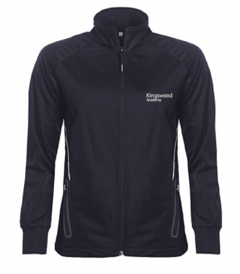 Kingswood Academy Navy GIRLS Full Zip Training Top (YEAR 7 & YEAR 8  for Sept 2021/2022 ONLY)