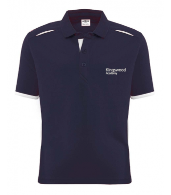 Kingswood Academy Navy Unisex Training Polo (YEAR 7 & YEAR 8  for Sept 2021/2022 ONLY)