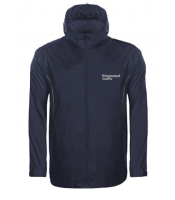 Kingswood Academy Navy Rain Jacket (YEAR 7 & YEAR 8  for Sept 2021/2022 ONLY)
