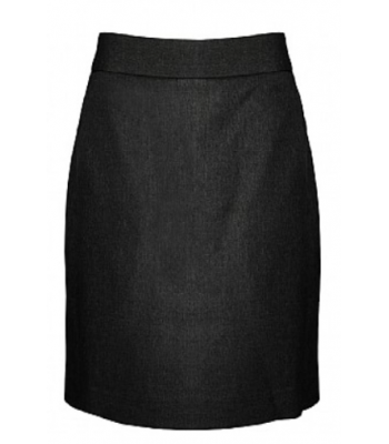 S-Cut Slim-Line Skirt in Black