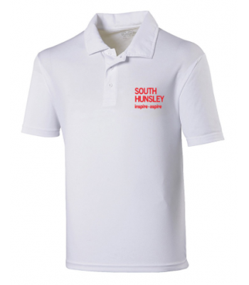 South Hunsley Performance Wicking Polo (with your school logo)