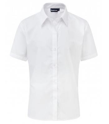 Girls Twin Pack White Short Sleeve Blouse