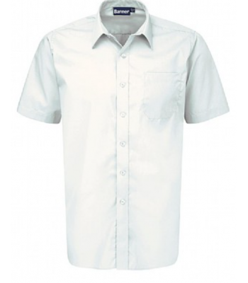 Boys Twin Pack White Short Sleeve Shirt