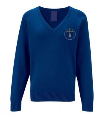 Archbishop Royal V-Neck Pullover (with your school logo)