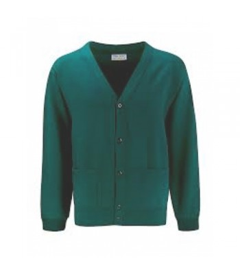 Brough Jade Cardigan with your school logo (Gold text)