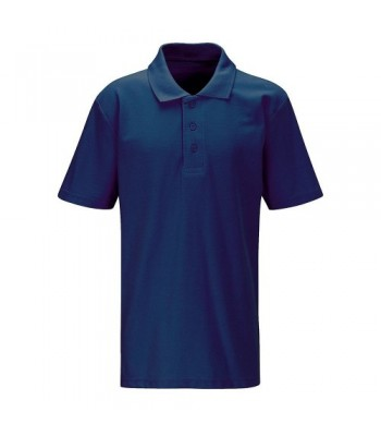Ganton School Navy/White/Jade Polo Shirt (with your school logo)