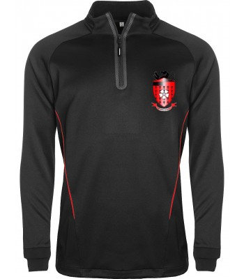 Hornsea School 1/4 Zip Top with embroided badge
