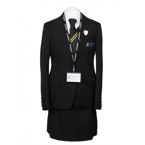 Blazers Hull: Kingswood Academy Girls Jacket With School Logo