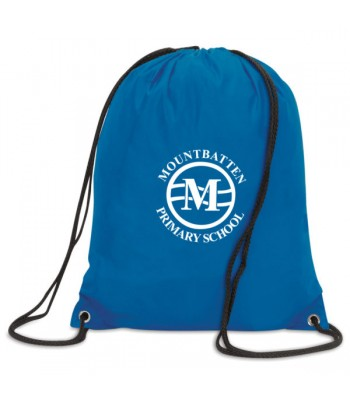 Mountbatten Primary Gym Bag (with your white printed school badge)