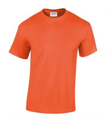 White Cross Netball Orange  plain T-Shirt