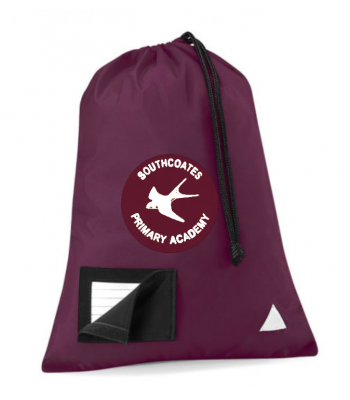 Southcoates Gym Bag (with your white print school logo)