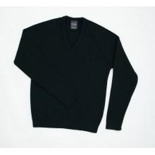 Hornsea V Neck Sweater with School logo