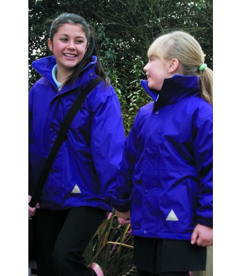 Patrington Storm Coat with School logo