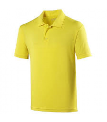 St John Polo with your school logo - Yellow
